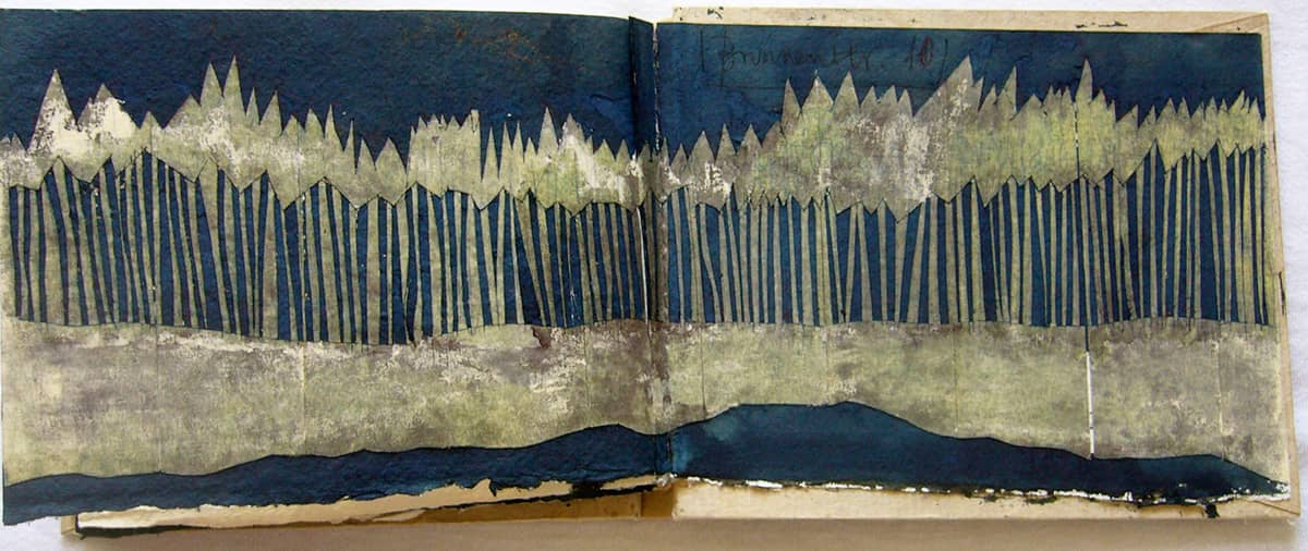 Forest | Germany - 10.5 x 15 cm mixed media on paper, 2008