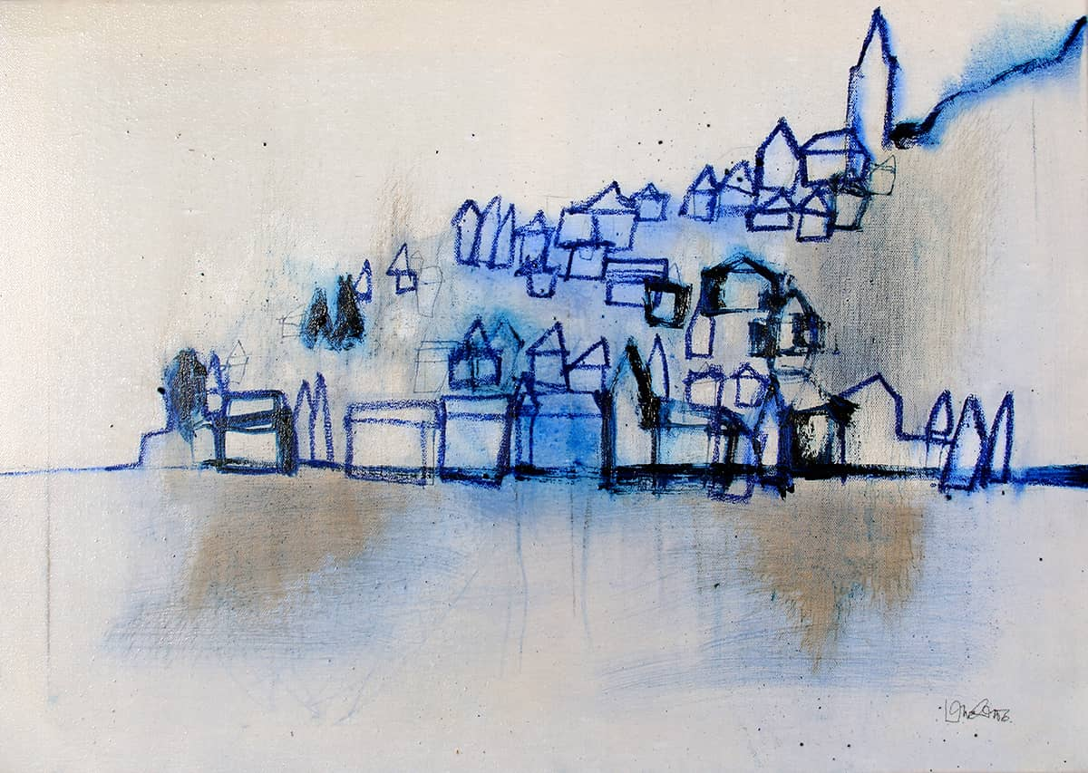 Igrane | Croatia - 50 x 70 cm mixed media and oil on canvas, 2011