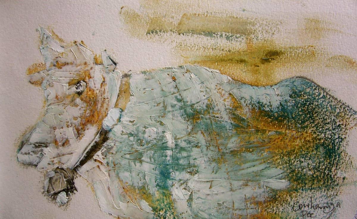 Camino de Santiago de Compostela No. 4 | Spain - 13 x 21 cm oil, oil pastels and pencil on paper, 2009