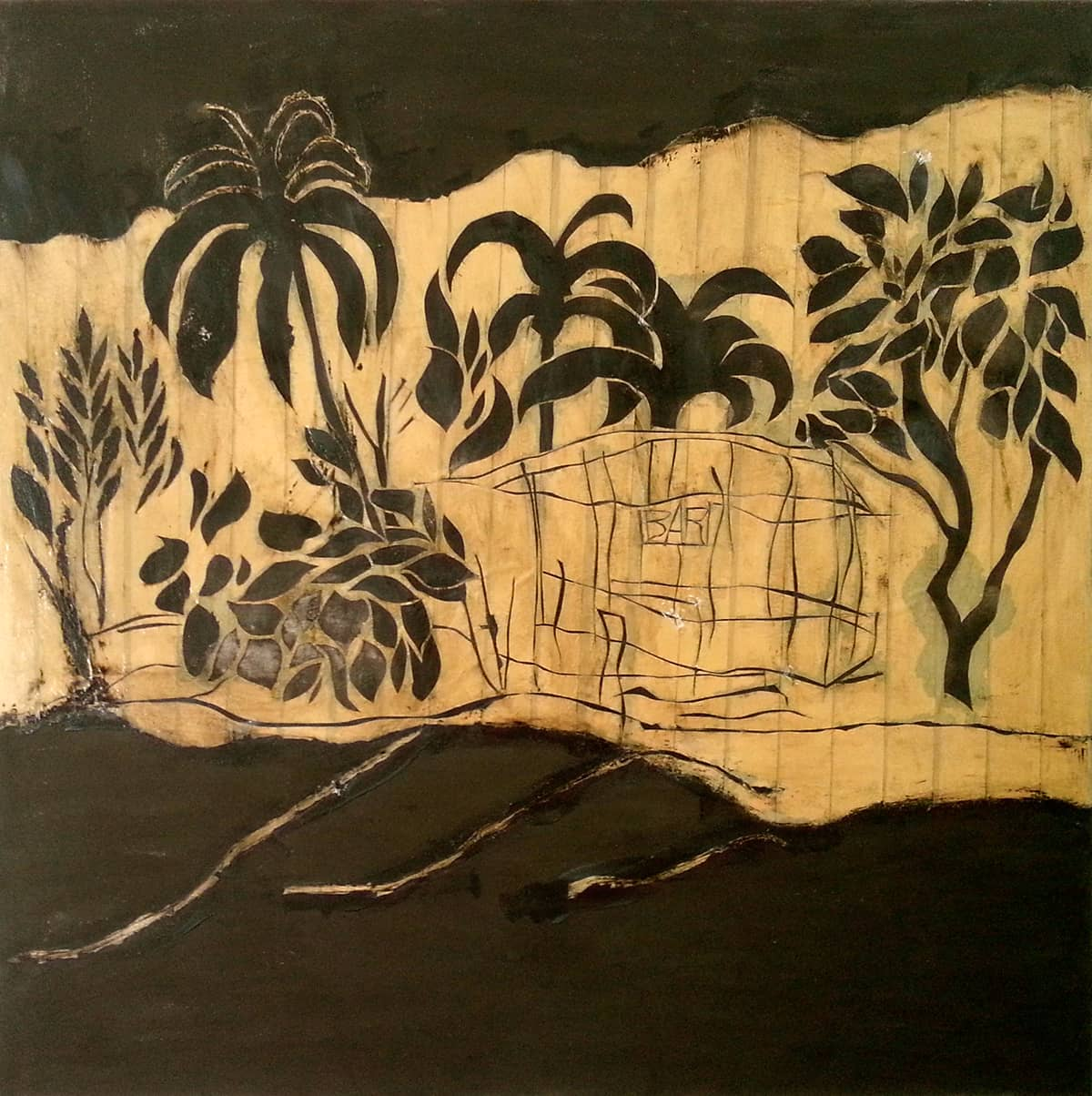 Brewer's Bay No. 4 | British Virgin Islands - 100 x 100 cm mixed media on canvas, 2008