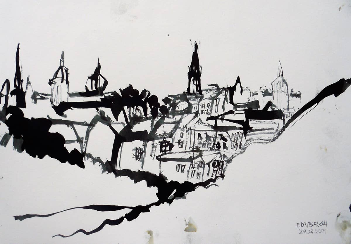Edinburgh | Scotland - 21 x 30 cm ink on paper, 2011