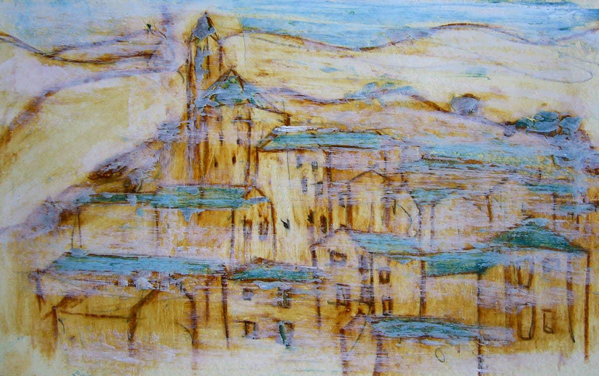 Camino de Santiago de Compostela No. 5 | Spain - 13 x 21 cm oil, oil pastels and pencil on paper, 2009