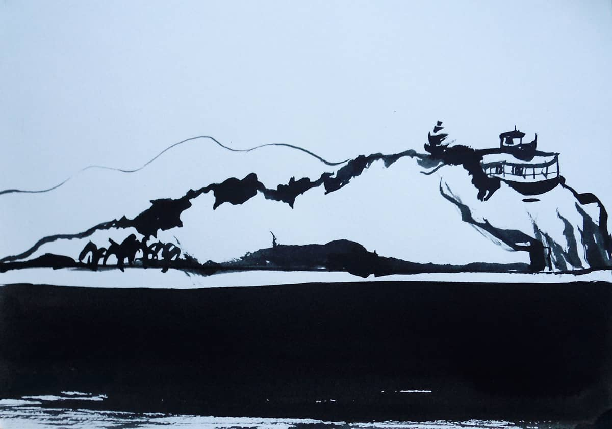 Buck Island | British Virgin Islands - 20 x 30 cm ink on paper, 2012