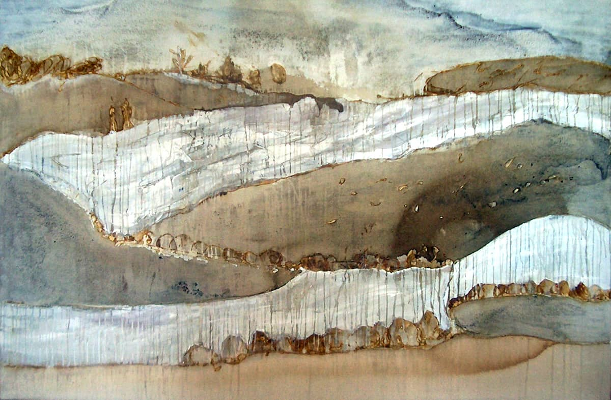 Landscape No. 3 | France  - 140 x 200 cm mixed media on canvas, 2005