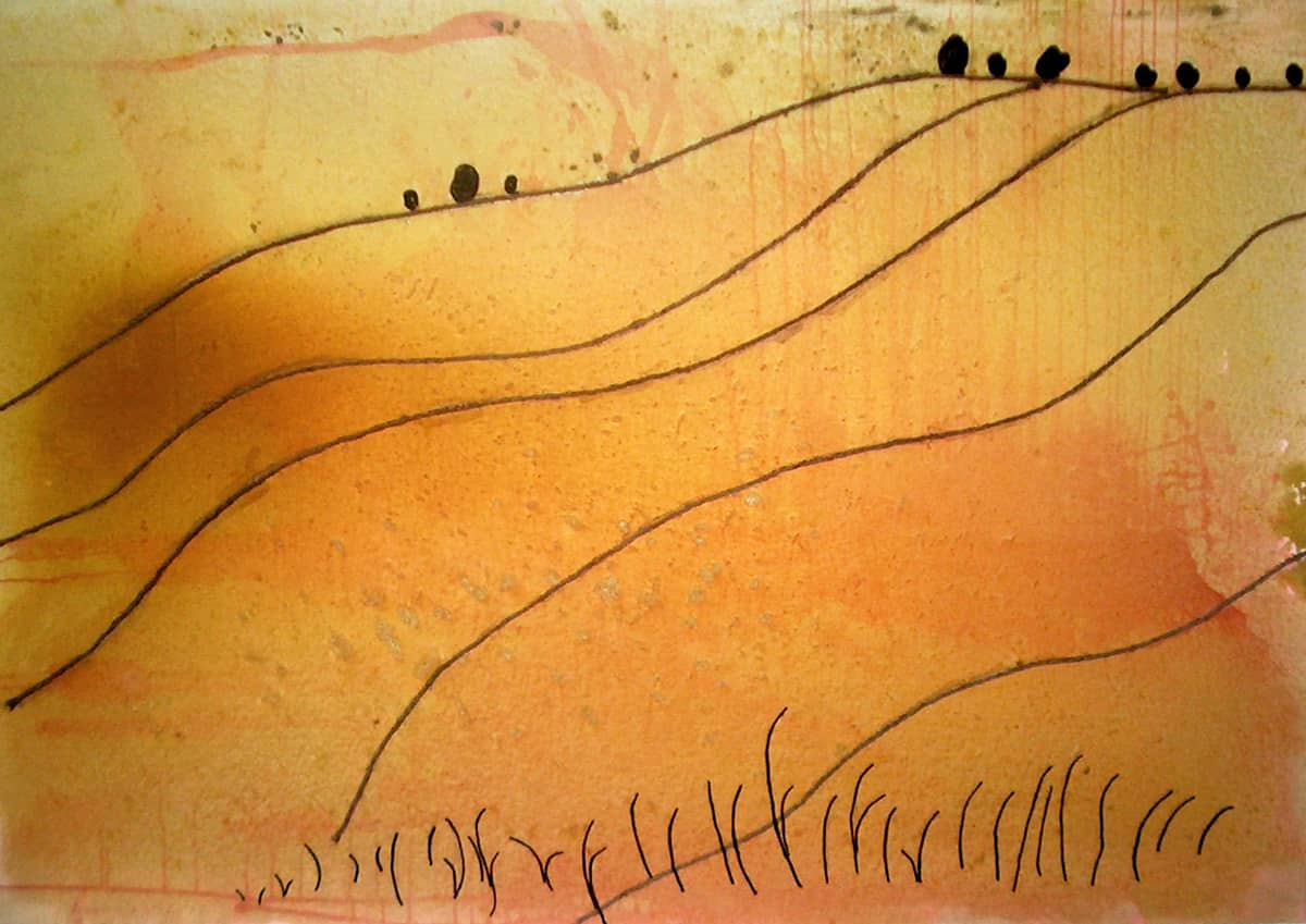 Landscape No. 1 | France - 140 x 200 cm mixed media on canvas, 2005