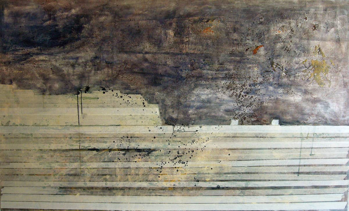 Seascape 2 boats | British Virgin Islands - 200 x 250 cm mixed media on canvas, 2008