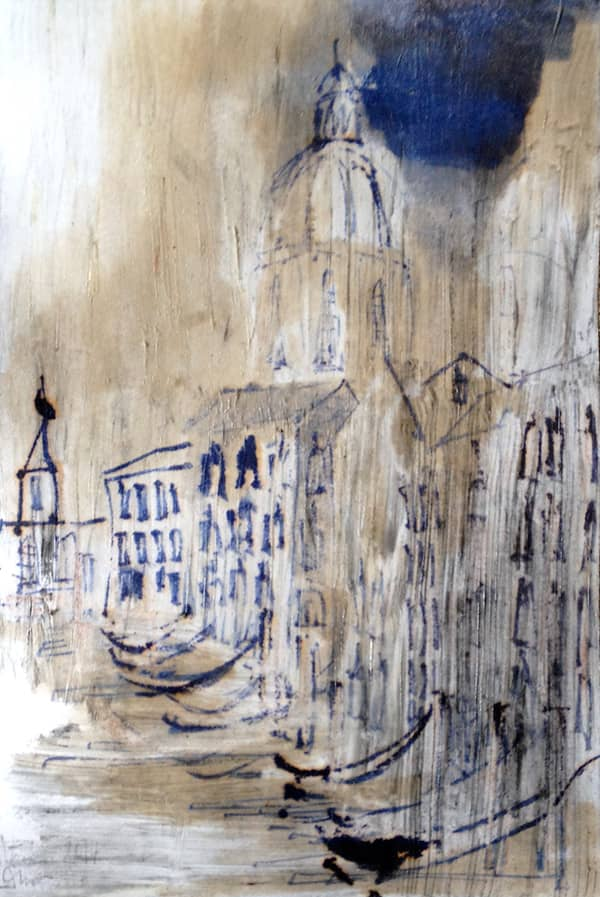 Venice No. 2 | Italy - 10 x 14 cm mixed media on paper, 2014