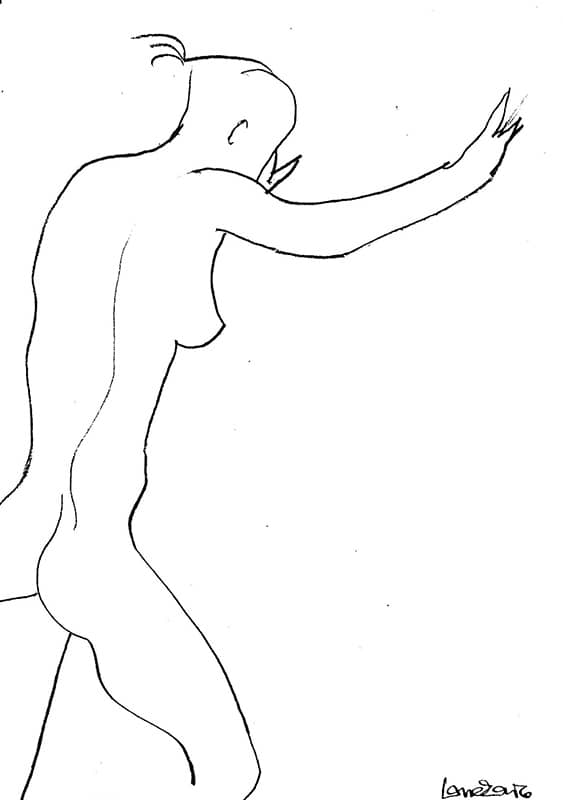 Nude - 20 x 30 cm pencil on paper, 2004