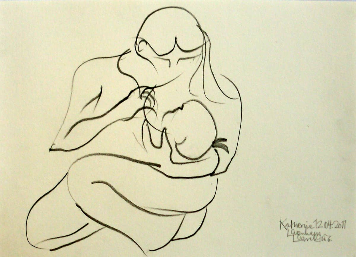 Mother and Child No. 2 - 20 x 30 cm pencil on paper, 2011
