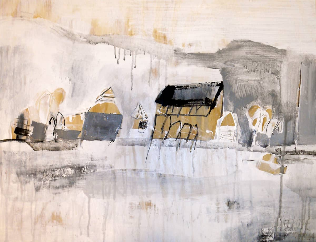 East End Tortola No. 1 | British Virgin Islands - 45 x 60 cm mixed media on wooden board, 2012
