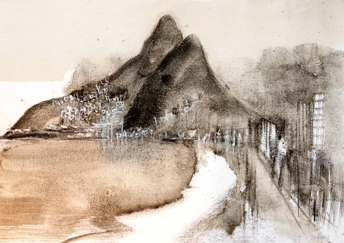 Dois Irmaos | Rio de Janeiro  - 50 x 70 cm mixed media on canvas, 2014