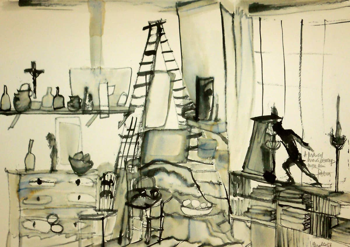 Paul Cezanne's Studio | Provence - 21 x 30 cm ink on paper, 2011