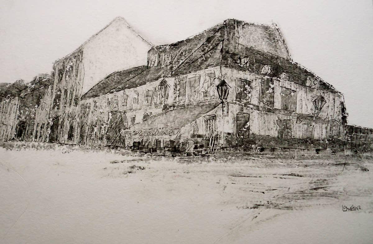 Gornji Grad Zagreb | Croatia - 30 x 45 cm oil on paper, 2012