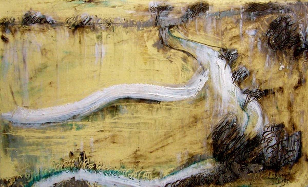 Camino de Santiago de Compostela No. 3 | Spain - 13 x 21 cm oil, oil pastels and pencil on paper, 2009