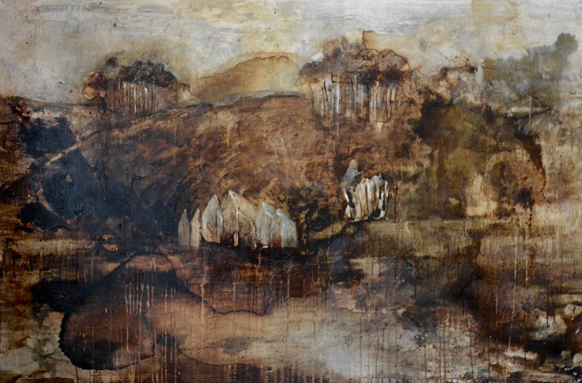 Landscape No. 1 | Cornwall - 122 x 182 cm mixed media on canvas, 1997