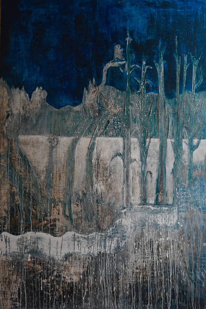 The Garden | Orlando - 120 x 180 cm mixed media on canvas, 2008