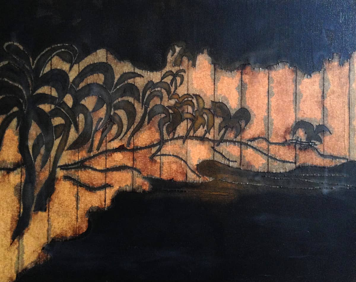 Cane Garden Bay | British Virgin Islands - 40 x 50 cm mixed media on canvas, 2007