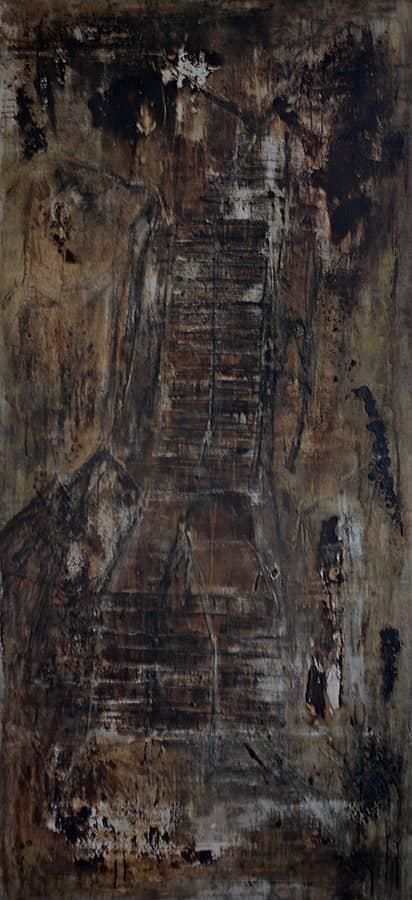 Jacob's Ladder - 86,5 x 188 cm mixed media on canvas, 1998