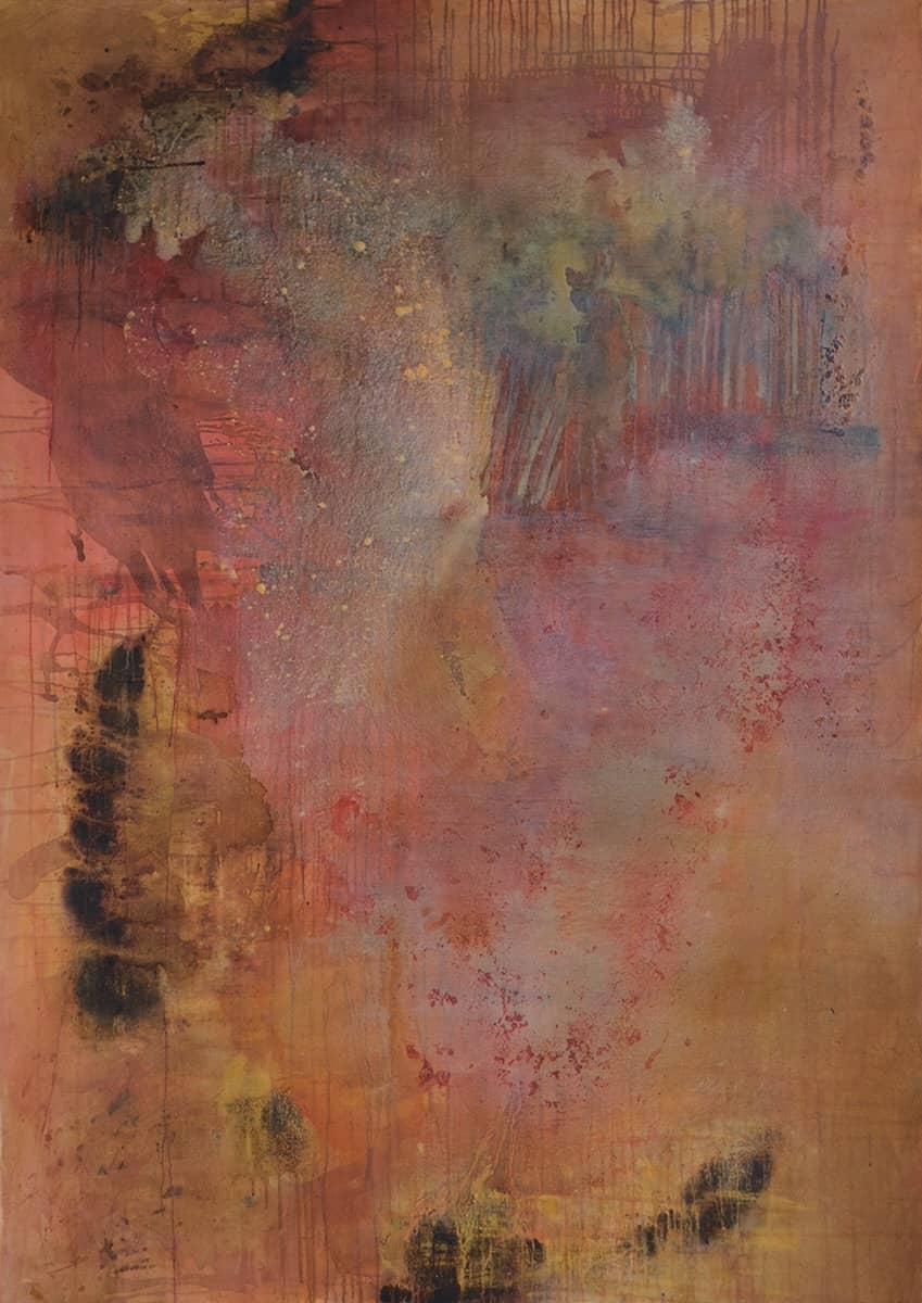 Don't explain - 150 x 212 cm mixed media on canvas, 1998