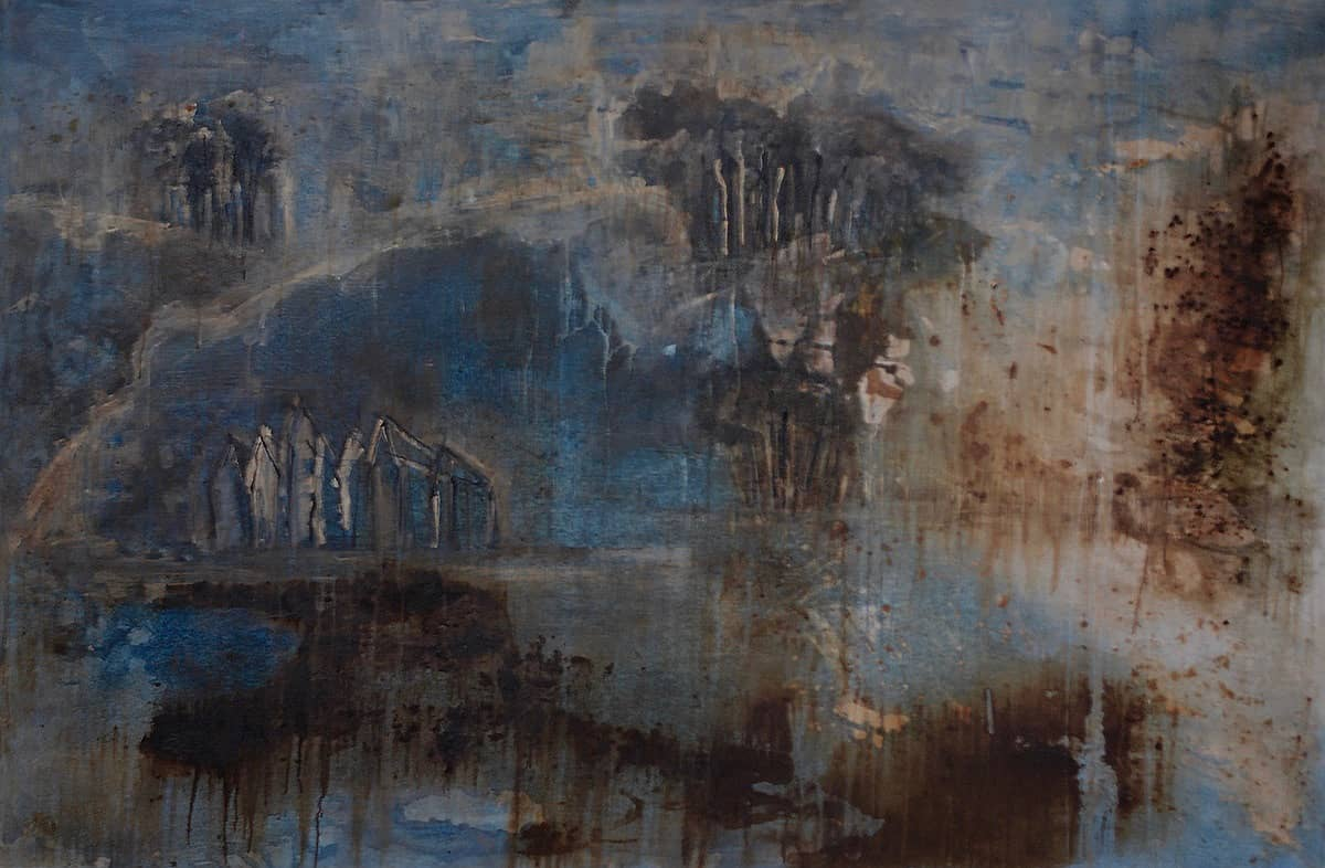Landscape No. 2 | Cornwall - 122 x 182 cm mixed media on canvas, 1997